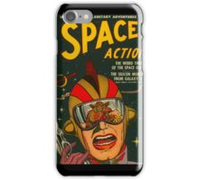 Space Action - Classic Comic Cover iPhone Case/Skin