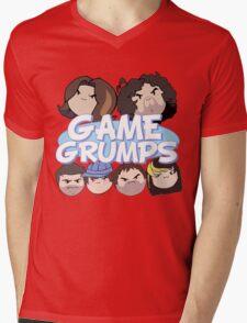 Game Grumps Logo & Grump Heads Mens V-Neck T-Shirt