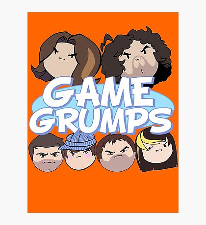 Game Grumps Logo & Grump Heads Photographic Print