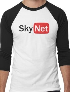 YouTube Skynet Logo Men's Baseball ¾ T-Shirt