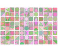 Creative Coding Fuzzy Mosaic Col#2 Photographic Print
