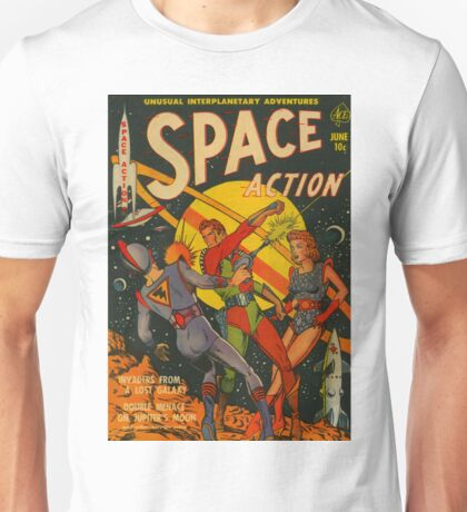 Space Action - Classic Comic Cover - 2 Unisex T-Shirt