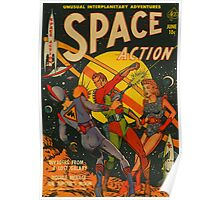 Space Action - Classic Comic Cover - 2 Poster