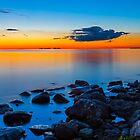 Sunset Over Sister Bay by Kenneth Keifer