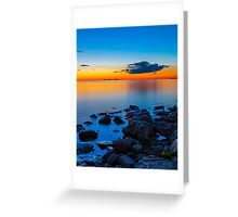Sunset Over Sister Bay Greeting Card