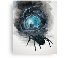 Frodo in Shelob's lair Canvas Print