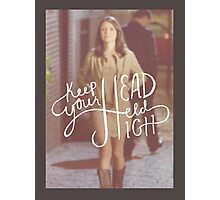Chasing Life - April Carver/ Keep your head held high Photographic Print