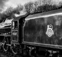 Double Header Steam Train Sticker