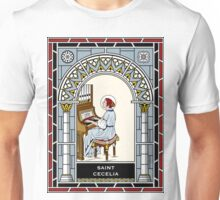 ST CECELIA under STAINED GLASS Unisex T-Shirt