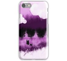 purple wolves  iPhone Case/Skin