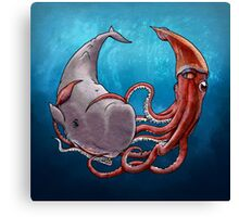 Battle of the Deep Canvas Print
