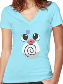Poliwag Women's Fitted V-Neck T-Shirt