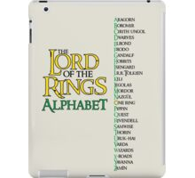 Lord of the Rings Alphabet iPad Case/Skin