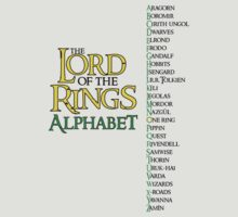 Lord of the Rings Alphabet by gnarlynicole