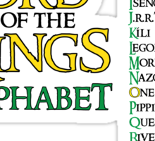 Lord of the Rings Alphabet Sticker