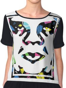Classic Obey Giant Face Chiffon Top