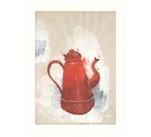 RED COFFEEPOT Art Print
