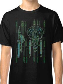 USS Enterprise Wireframe Classic T-Shirt