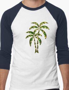 Palm Tree, Tattoo Style, Beach, Surf, Playa,  Men's Baseball ¾ T-Shirt