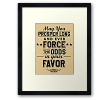 May You Prosper Framed Print