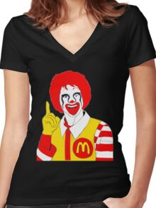 Ronald Mc Manson Women's Fitted V-Neck T-Shirt