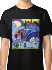 Dreamland - Landscape with Rainbows Classic T-Shirt