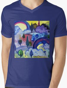 Dreamland - Landscape with Rainbows Mens V-Neck T-Shirt
