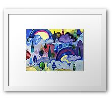 Dreamland - Landscape with Rainbows Framed Print