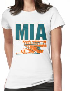 Miami Airport Womens Fitted T-Shirt