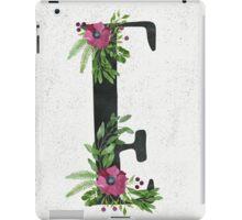 Monogram E with Floral Wreath iPad Case/Skin