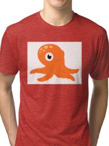 Orange underwater Octopus. Underwater Art - Orange Tri-blend T-Shirt