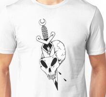 skull with dagger Unisex T-Shirt