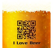 I Love Beer background Photographic Print