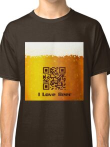 I Love Beer background Classic T-Shirt