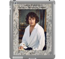 JAMMF in stone frame with engraving. iPad Case/Skin