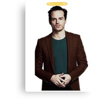 Andrew Scott with a halo Canvas Print