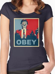 They Live - Obey Women's Fitted Scoop T-Shirt