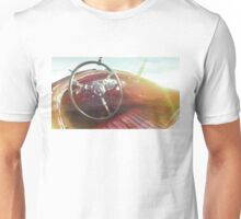 vintage race car in watercolor Unisex T-Shirt
