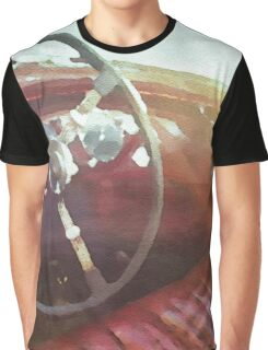 vintage race car in watercolor Graphic T-Shirt