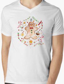 Christmas Gingerbread Mens V-Neck T-Shirt
