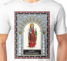 ST CUNEGUNDES THE EMPRESS under STAINED GLASS Unisex T-Shirt