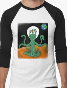 Three eyed alien Men's Baseball ¾ T-Shirt