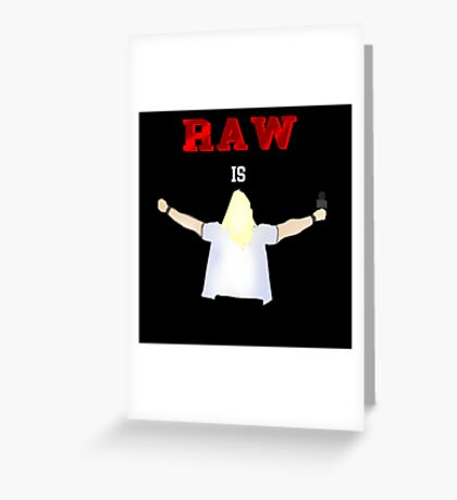 RAW is JERICHO! | Y2J Greeting Card