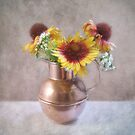 Sunny Flowers in a Copper Pitcher by LouiseK