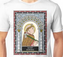 St. DOMINIC under STAINED GLASS Unisex T-Shirt