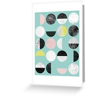 Half Circles Greeting Card