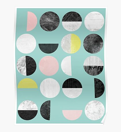 Half Circles Poster