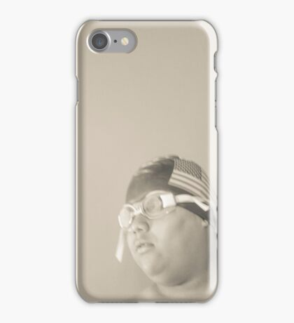 Swim Cap and Goggles iPhone Case/Skin