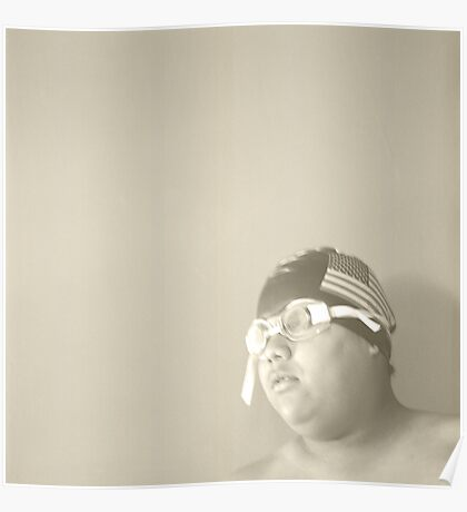 Swim Cap and Goggles Poster