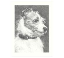 Little dog... Big character! Art Print